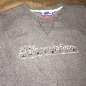 Unisex Vintage Large Gray Champion Sweatshirt